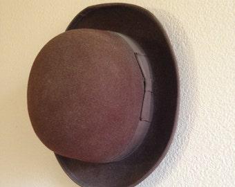 Women s brown wool bowler hat d4f42a2b588