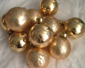 Christmas Ornaments Sugared Styrofoam Balls Vintage Pyramid | Etsy