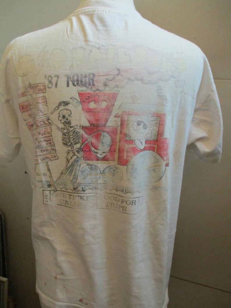 409aa5e9f3d1 Grateful Dead T Shirt 1987 Tour Grateful Dead Railroad