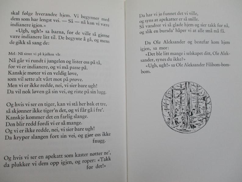 Norwegian Children's Book, Ole Aleksander Filibom-Bom-Bom, 1975, Kids Book  Written in Norwegian, Ann-Cath  Vestly, Scandinavian Book