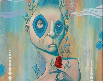 INCOGNITO, pop surrealism, popart, lowbrow art, juxtapoz, new contemporary, mixed media painting, acrylic, street art, urban art, graffiti