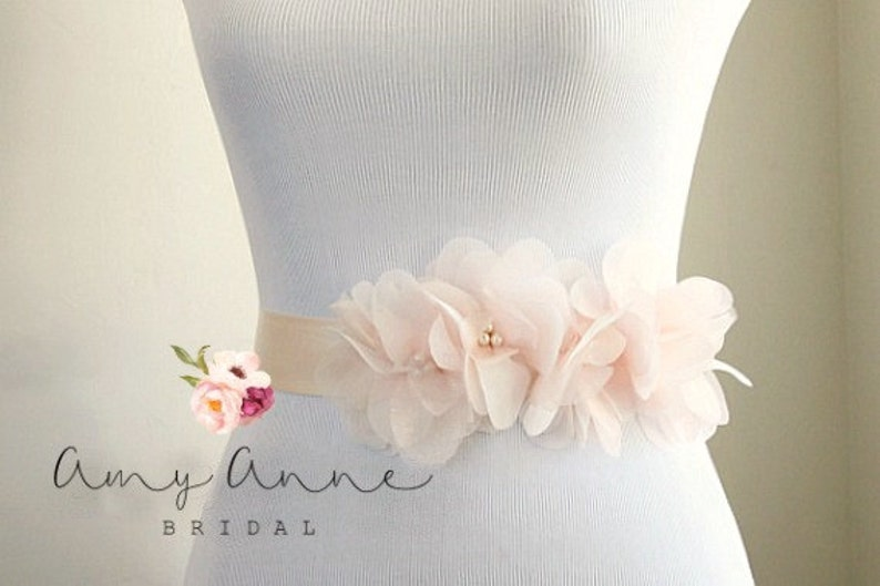 e245dc13ff881 Light Blush Wedding Sash Blush Bridal Sash Pink Wedding   Etsy