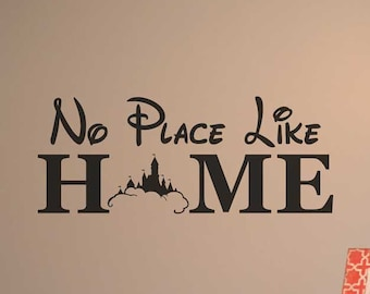 No place like home disney decal vinyl wall decal home decor Walt Disney we do Disney gift/for/her BC776 & Disney wall decal | Etsy