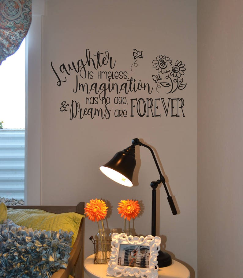 Disney Decal Laughter is timeless imagination has no age and image 0