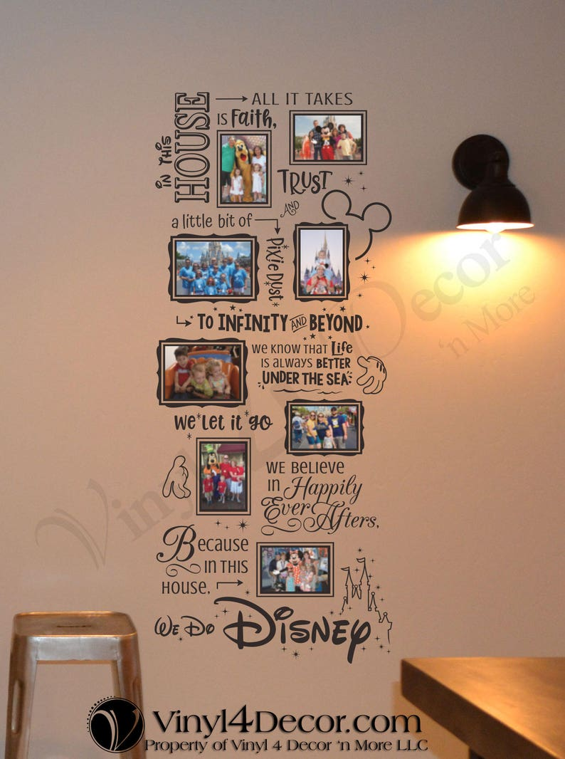 Adhered with glue dots In this house We do Disney Photo Collage for 4 x 6 and 5 x 7 photos BC838