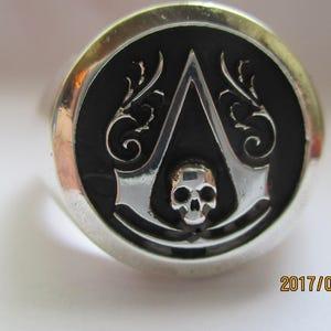 Assassin S Creed Ring Black Flag Symbol Men S Signet Etsy