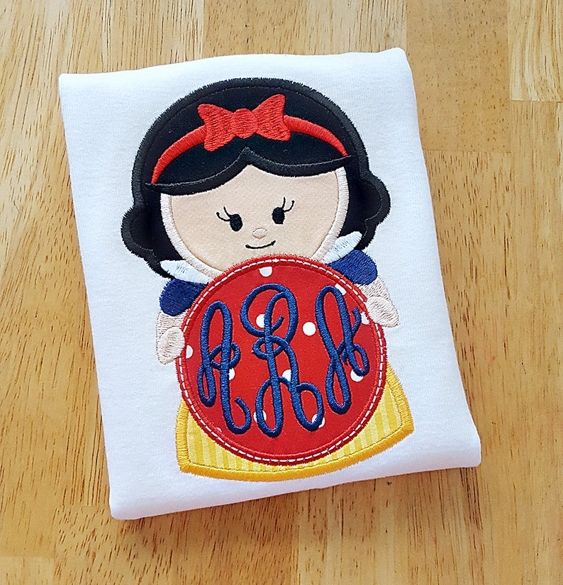 Princess Monogram Applique Shirt for Girls  Personalized image 0
