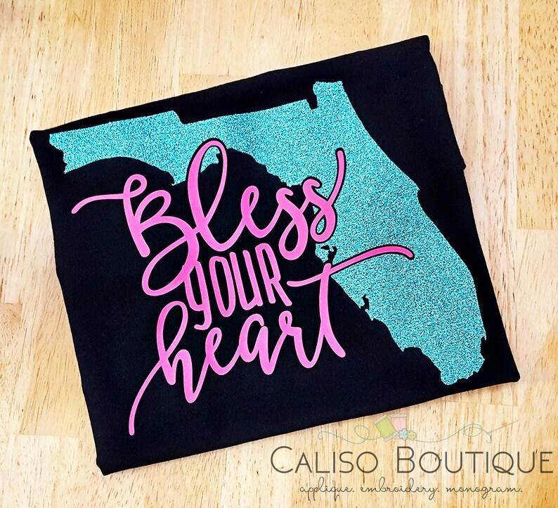 Bless your heart  Vinyl Tshirts  Glitter Vinyl T-shirt  image 0