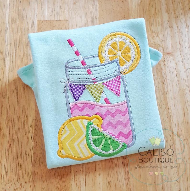 Lemonade Applique Shirt  Summer Lemonade  Personalized image 0