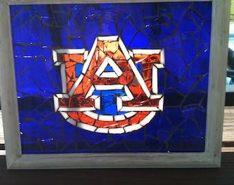 One of a kind Auburn University Glass Mosaic.
