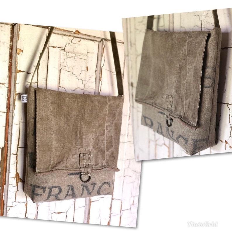 POSTES FRANCE reconstructed vintage french post messenger bag image 0