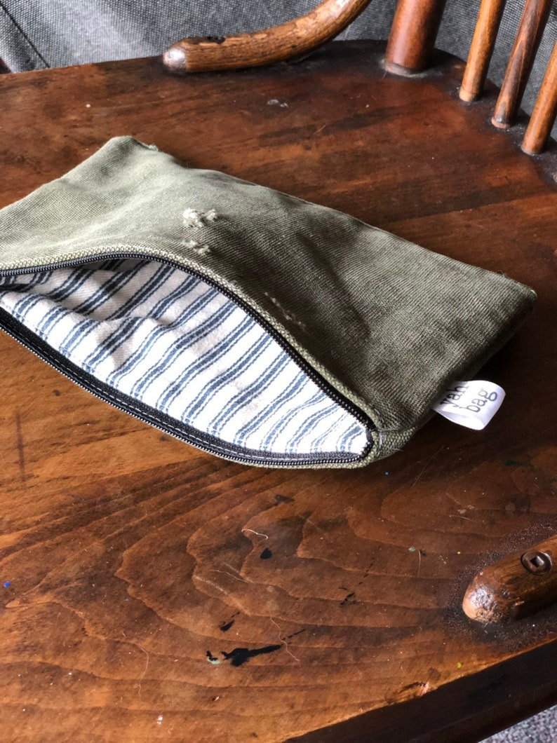 PATCH  reconstructed vintage duffle bag small pouch image 0