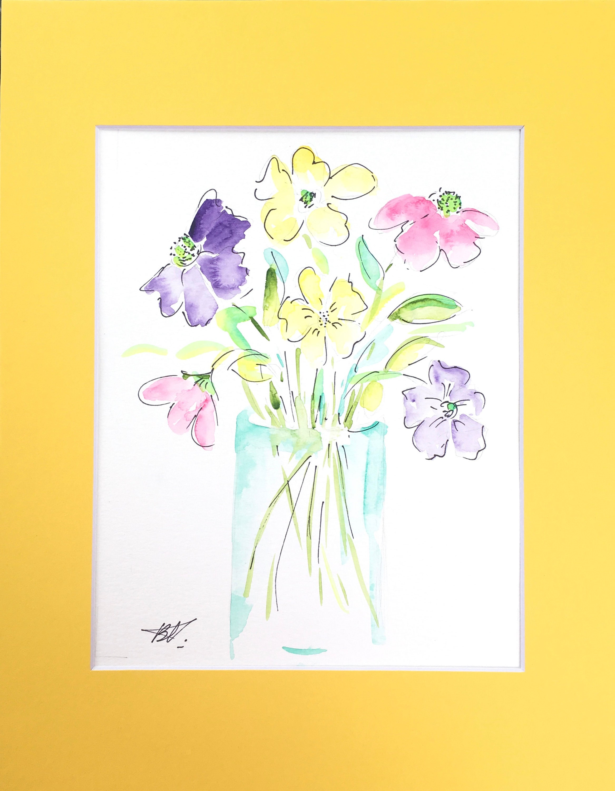 Painting, Original Watercolor, Wall Art, Painting, Floral ...