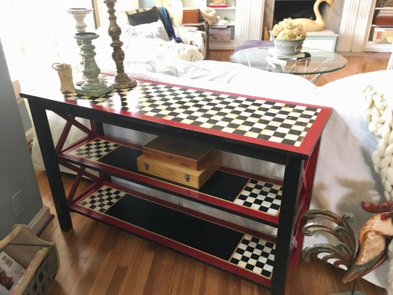 Handpainted Table, Painted Table, Painted Furniture, Console Table, Sofa Table, Home Decor, Whimsical Painted Furniture,