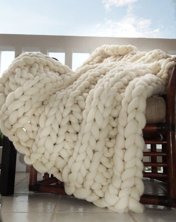Super Chunky Merino Wool Blanket, Chunky Blanket, Chunky Knit, Throw, Knit Blanket, Giant Knit, Chunky Blanket, Chunky Throw