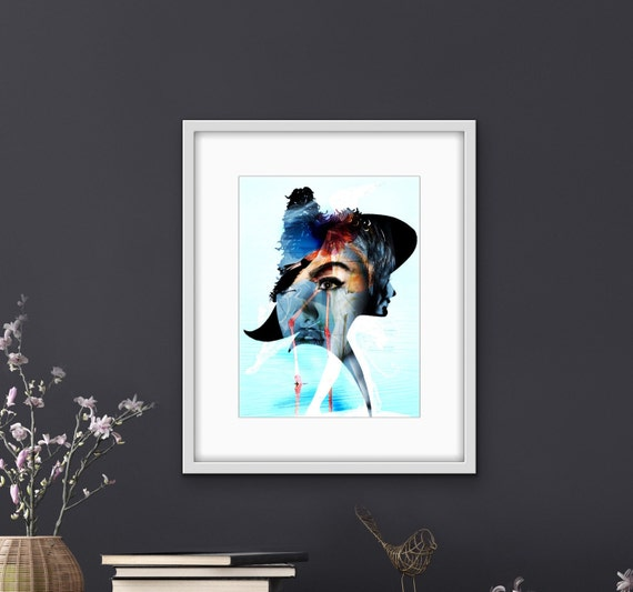 Art Print, Giclee, original art, whimsical, surrealism, collage, contemporary art, montage art, wall decor, original print