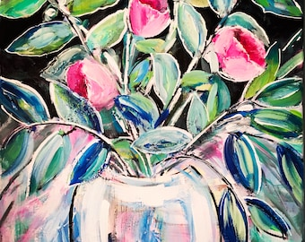 Abstract Floral Art, Abstract Painting, Wall Art, Painting, Impressionist, Wall Decor, Original Painting, Art, Flower Painting, original art
