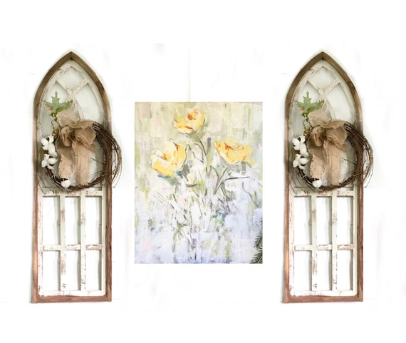 Farmhouse Wall Grouping, Arch Windows, Wall Art, Wall Decor, Modern Art, Home Decor, Interior Decor, Picture Wall