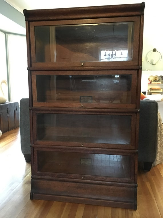 Barrister Bookcases, 4 units, base, top, 5th unit included free, outstanding condition, only 2 owners.