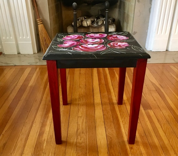 Hand Painted Table, Painted Table, Painted Furniture, Side Table, Home Decor, Whimsical Painted Furniture,