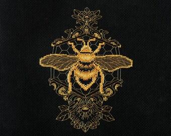 Golden Bee Counted Cross Stitch Kit Clown Bear NEW