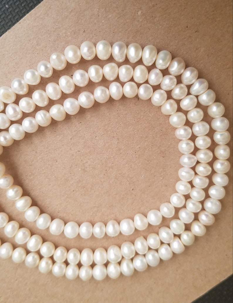 Beads Lovely Natural Freshwater Cultured Pearls Beads Round 100% Natural Pearls For Jewelry Making Necklace Bracelet 15 Inches Size 5-5.5mm
