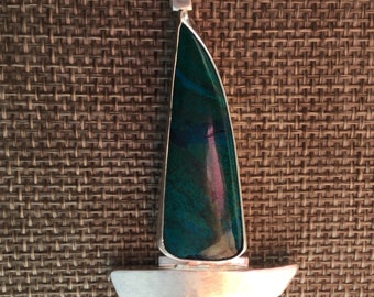 Chrysocolla Sailboat Necklace