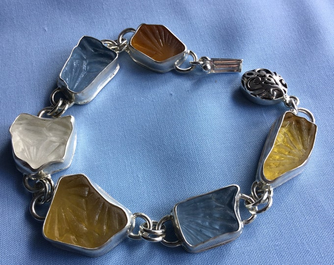 Scottish Seaglass Sterling silver bracelet