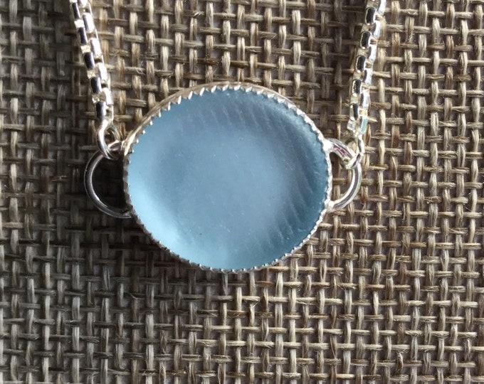 Reserved for Dorothy Ohajiki Japanese Seaglass Bolo Bracelet Light blue