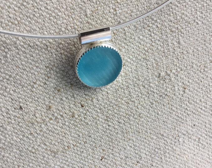 Ohajiki Japanese Seaglass Pendant Necklace