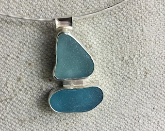Sailboat Seaglass Necklace