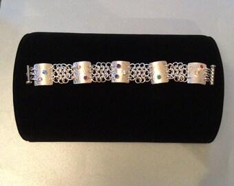 Sterling Silver and Gemstone Bracelet