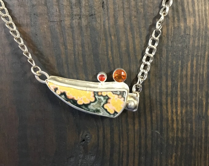 Ocean Jasper with Mexican Opals necklace