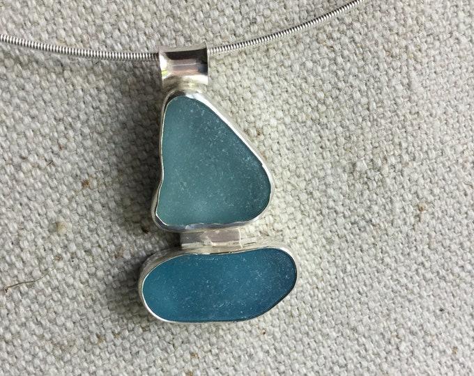 Sailboat Seaglass Necklace