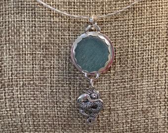 Seaglass Ohajiki Mermaid Necklace