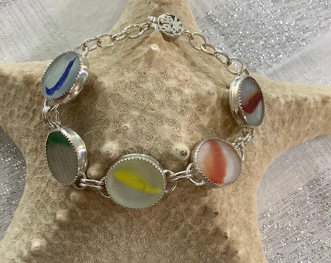 Ohajiki Rainbow sterling silver bracelet