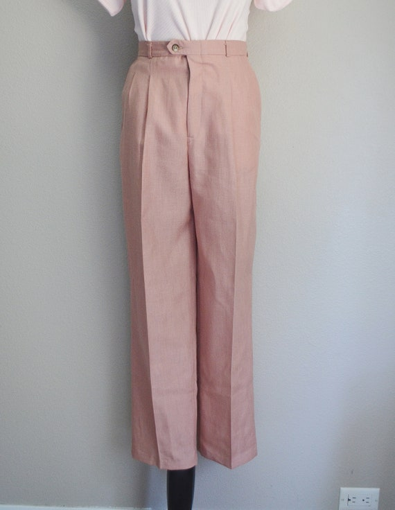 rose linen trousers - 26x28 - image 5