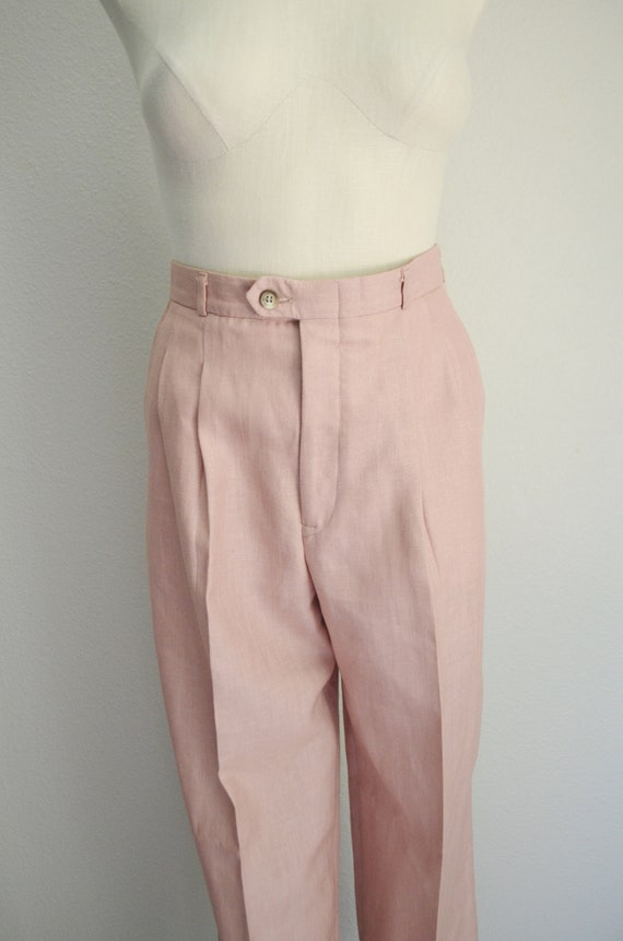 rose linen trousers - 26x28 - image 7