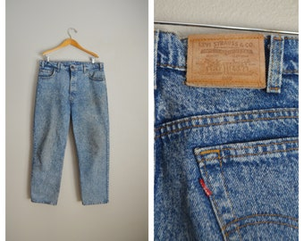 levi's stone washed 540 jeans / vintage 80s usa made 540 baggy loose fit jeans- 38x29 / vintage levis acid washed jeans