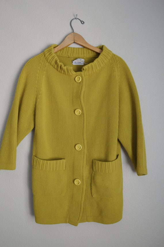 Vintage 60s 70s Thick Heavy Ribbed Chunky Mustard Yellow Etsy