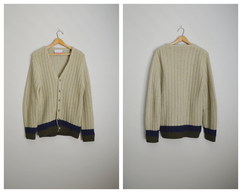 406b6e648622 vintage 60s 70s wool tan JANTZEN preppy classic cardigan