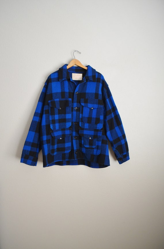 filson blue plaid wool mackinaw cruiser - large - image 2