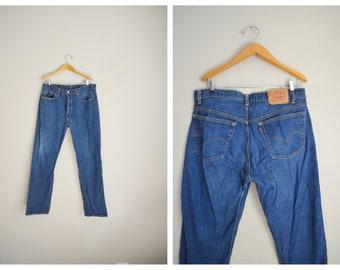 levi's 501 jeans / vintage 80s dark wash Levi's 501 USA jeans - 34x31
