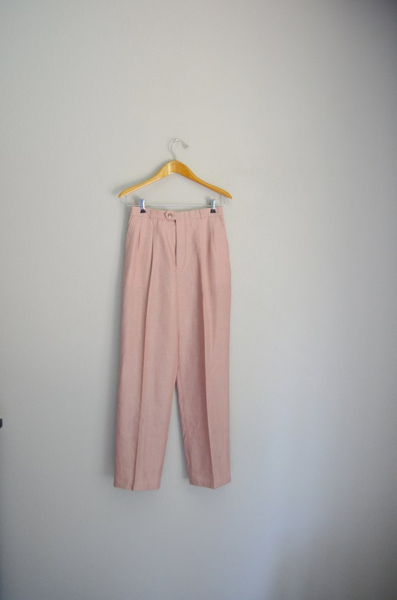rose linen trousers - 26x28 - image 2