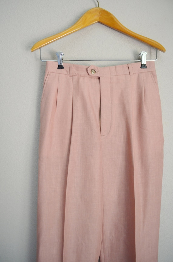 rose linen trousers - 26x28 - image 4