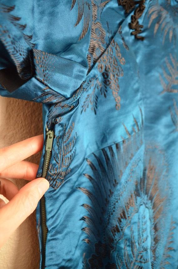 40s cheongsam qipao wiggle asian dress - small - image 5