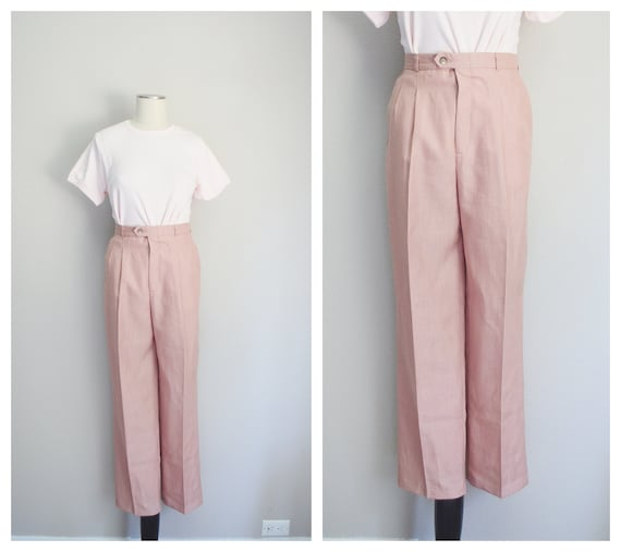 rose linen trousers - 26x28 - image 1