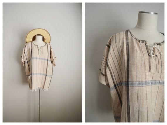 fringe tunic blouse - large / xl