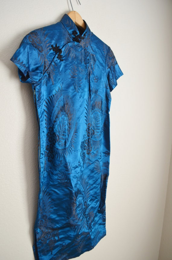 40s cheongsam qipao wiggle asian dress - small - image 4