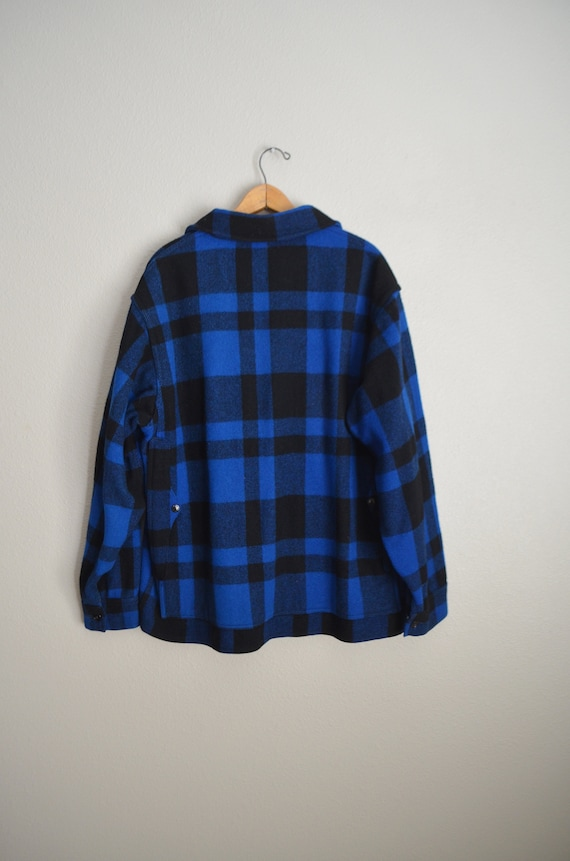 filson blue plaid wool mackinaw cruiser - large - image 7